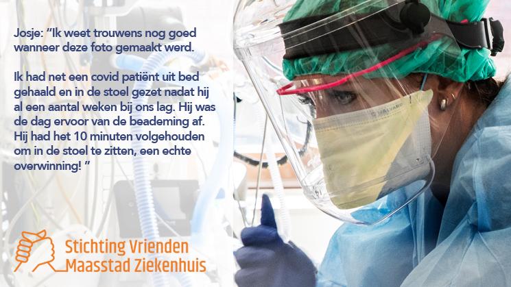 Wil jij ook de zorgmedewerkers van het Maasstad Ziekenhuis na een jaar corona jouw steun betuigen?